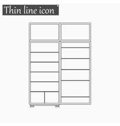 refrigerator icon Style thin line vector image
