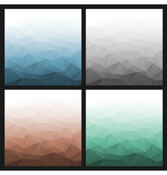 Set of Abstract Gradient Geometric Backgrounds vector image