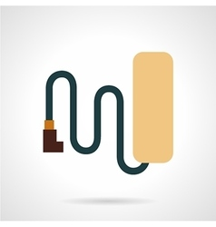 Simple style bike battery flat icon vector image