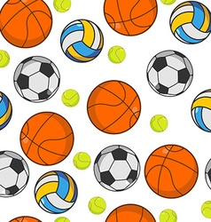 Sports ball seamless pattern balls ornament vector