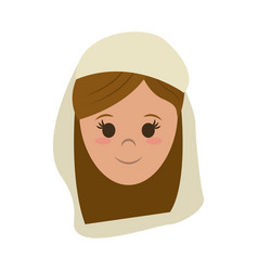Woman wearing veil icon image vector