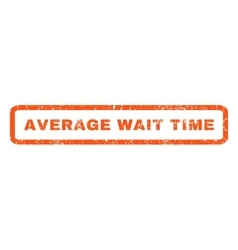 Average wait time rubber stamp vector