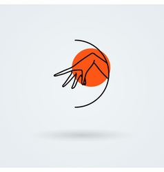Icons with a graceful female hand in a beautiful vector
