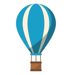 Blue airballoon travel recreation adventure shadow vector