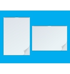 Paper notebook and clean personal memo book vector