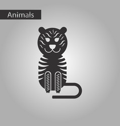 black and white style icon tiger vector image