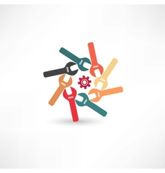 Many wrenches icon vector image