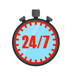 24 hours open stopwatch vector image vector image