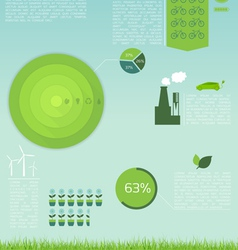 Green eco infographic vector