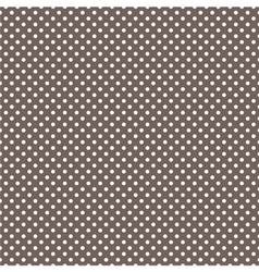 Tile pattern white polka dots on brown background vector image