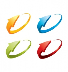 3d colorful arrows vector image vector image