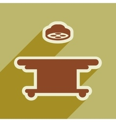Icon of operating table in flat style vector