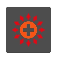 Pharmacy distribution flat button vector