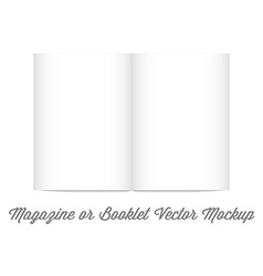 Mock up for album or booklet or magazine in vector