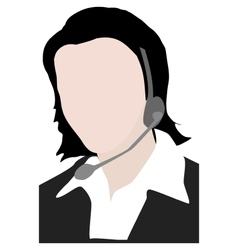 Calling center staff vector