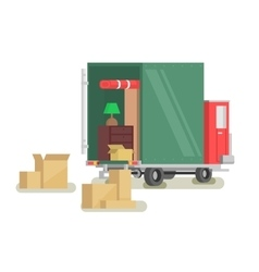 Moving furniture loading vector