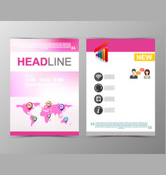 abstract blurred geometric brochure template map vector image vector image