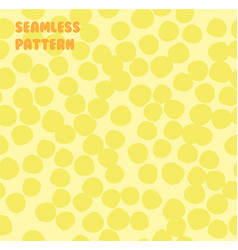 abstract yellow background made of small circles vector image vector image