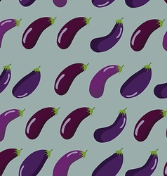 Background of purple eggplant seamless pattern of vector image