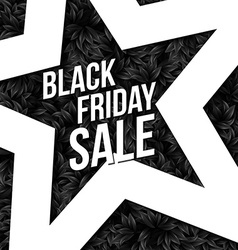 Black Friday sale poster vector image vector image