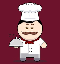 Cartoon cute chef vector