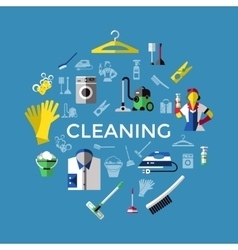 Cleaning Round Composition vector image vector image