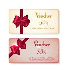 Collection of voucher gift cards with vector