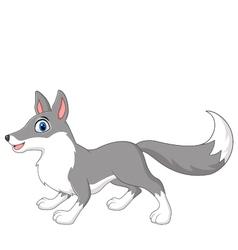 Cute cartoon wolf vector