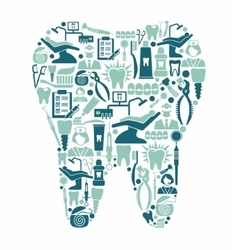 Dentistry and dental care symbols in the form of a vector image