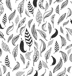 feather background retro pattern vector image