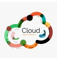 Flat design cloud icon background vector image vector image