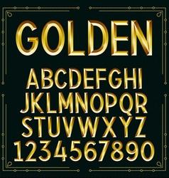 Golden Embossed Font vector image vector image