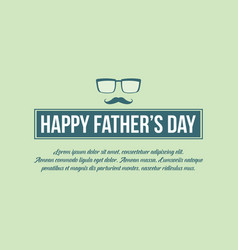 Happy father day banner style vector