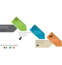 infographics style options banner vector image vector image