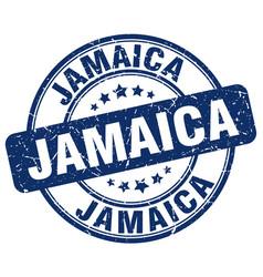 Jamaica blue grunge round vintage rubber stamp vector