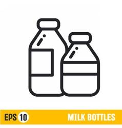 line icon milk bottle vector image vector image