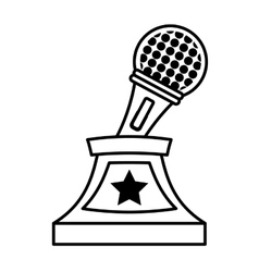 Music trophy awards honor outline vector