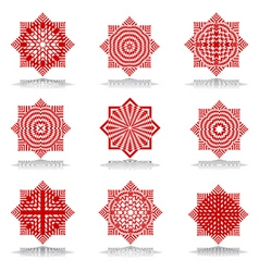 octagonal patterns vector image