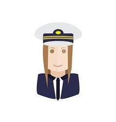pilot avatar vector image