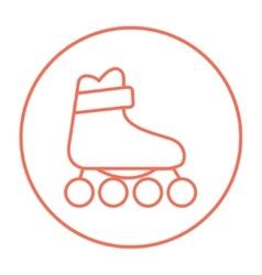 Roller skate line icon vector