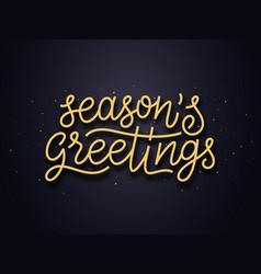 Seasons greetings typography card vector