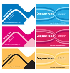 vector business cards vector image vector image