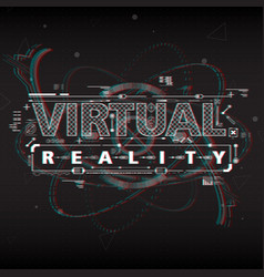 virtual reality lettering with futuristic user vector image vector image