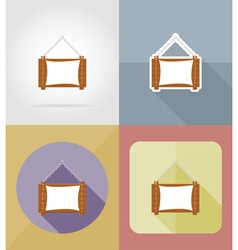 Wooden board flat icons 06 vector