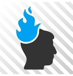 Fired head icon vector