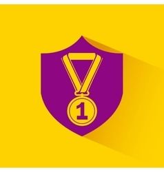medal first place winner icon vector image