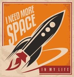 Creative poster design concept vector image