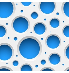 White plastic seamless pattern with holes vector