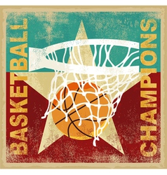 basketball champion vector image