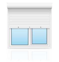 Plastic window with rolling shutters 01 vector